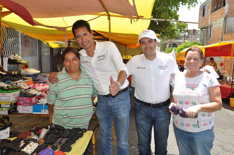 El candidato a diputado federal del distrito 10 de Morelia, refrendó su compromiso de seguir trabajando por la gente