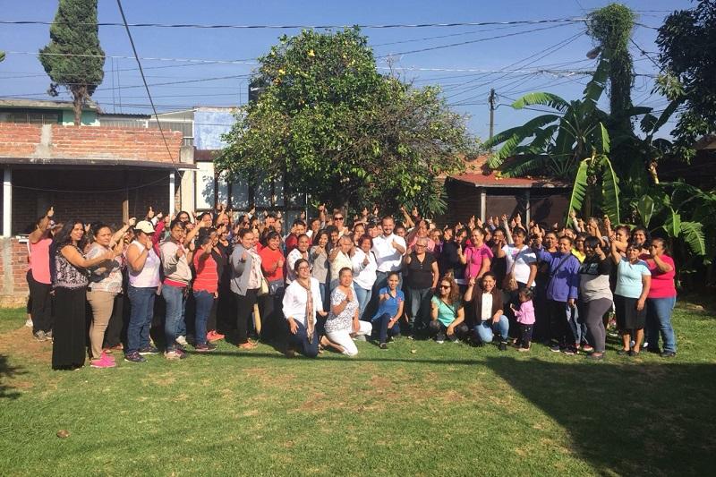 Vallejo Mora, agradeció el apoyo de las integrantes de la asociación, quienes aseguró son luchadoras incansables para defender los derechos de la mujer para que pueda acceder a las mismas oportunidades