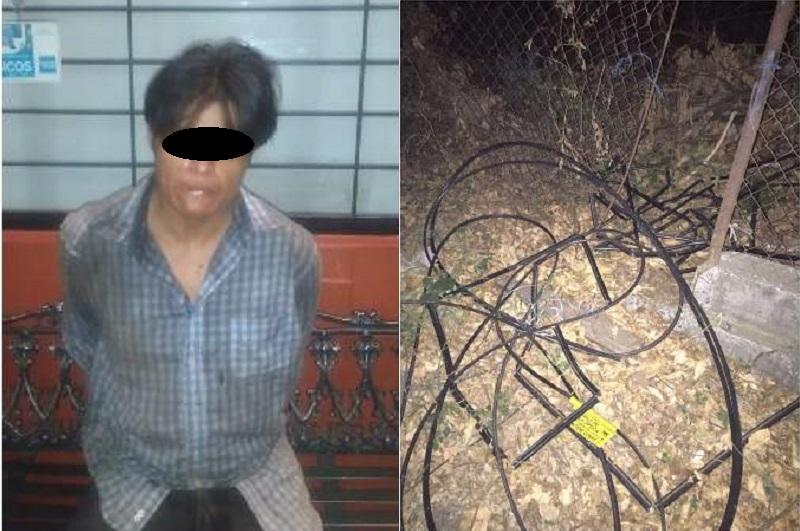 Elementos de Seguridad Pública de Uruapan lograron la detención de Saúl Santiago B. de 33 años
