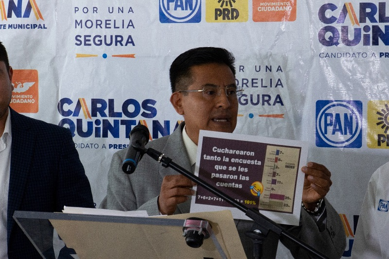 Las encuestas que presenta la candidatura independiente están más cuchareadas que los gazpachos morelianos: Miguel Ángel Chávez