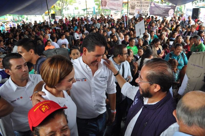 Hugo Eric Flores confirmó su apoyo a López Obrador e Iván Pérez Negrón