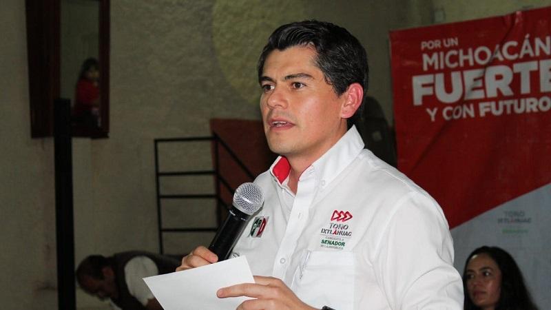Toño Ixtláhuac advierte que el PRI no permitirá que otros partidos pretendan el canje de votos