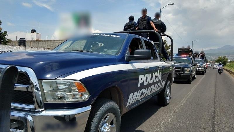 En el combate contra delitos al medio ambiente, elementos de la Unidad Ambiental de la Policía Michoacán, decomisaron 21 rollos de madera
