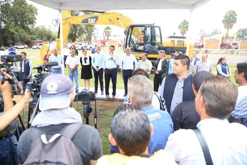 Se atiende la principal demanda de la Liga de Fútbol Amateur Morelia A.C., pues estos trabajos frenarán las inundaciones en la Unidad