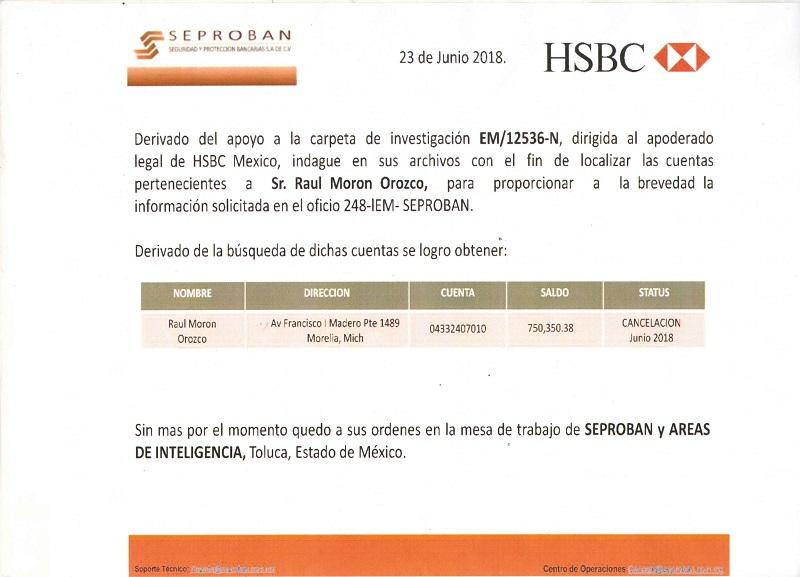 Según reportan hoy medios locales, a Raúl Morón se le hicieron dos depósitos por más de 2 mdp procedentes del Fideicomiso 73803, el cual fue creado para ayudar a los damnificados del sismo del pasado 19 de septiembre