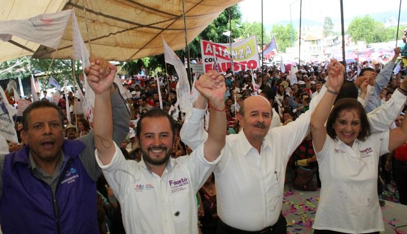 Vallejo Mora agradeció la confianza que los habitantes de este distrito le demostraron durante sus 45 días de campaña