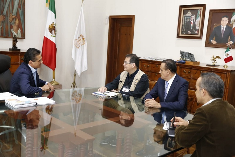 El gobernador Silvano Aureoles se reunió con Iván C. Rbolledo, observador de la Organización de Estados Americanos