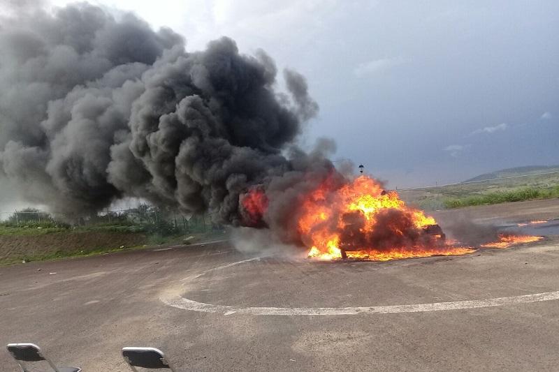 En la incineración de los narcóticos, se contó con la presencia de la Delegada Estatal de la Procuraduría General de la República, Berta Paredes Garduño