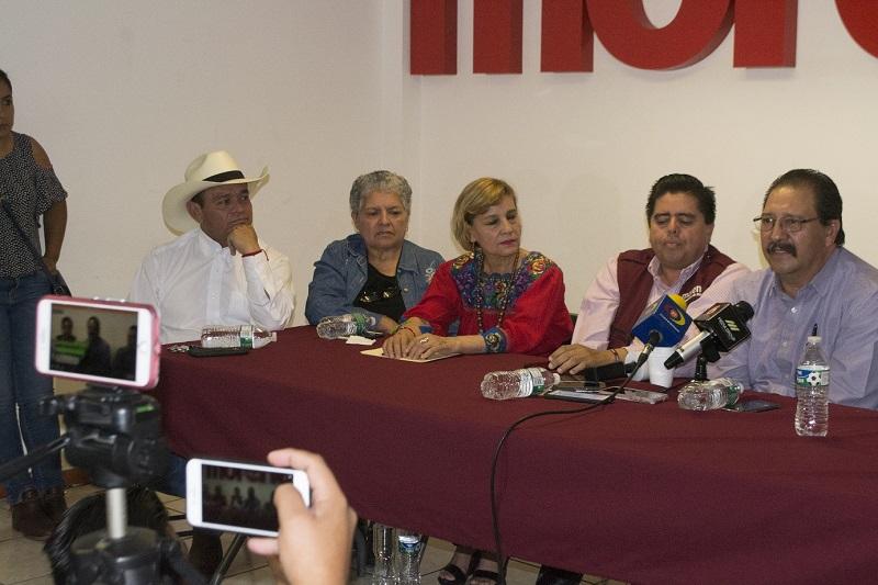 """""""Ya iniciamos el  trabajo y crearemos una fuerza que acompañará a nuestro presidente Andrés Manuel López Obrador, para cumplir con leyes que protejan al débil y erradiquen la corrupción"""", afirmó"""