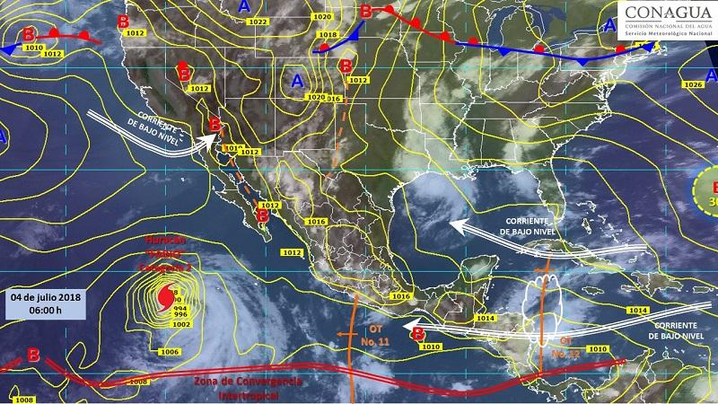 La Comisión Nacional del Agua a través del Servicio Meteorológico Nacional, continuará informando del desarrollo de estos fenómenos a través de la cuenta de Twitter @conagua_clima