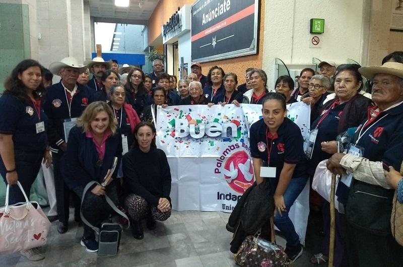 Los cuatro grupos fueron acompañados por personal de la Secretaría del Migrante (Semigrante) y de los ayuntamientos participantes