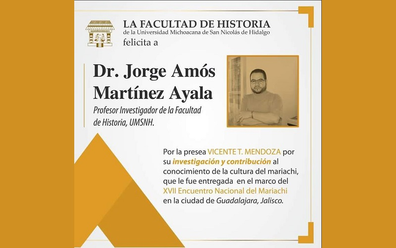 El rector Medardo Serna González, al conocer de esta distinción, felicitó ampliamente a Martínez Ayala, por su contribución a la labor de la Casa de Hidalgo en materia de difusión de la cultura, a la cual ha dedicado su vida profesional, a través de sus investigaciones históricas