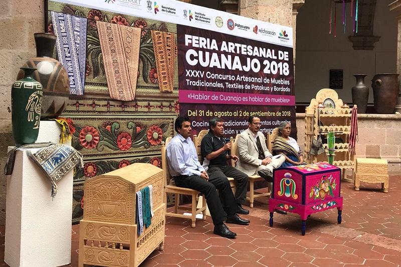 Del 31 de agosto al 2 de septiembre se llevará a cabo la Feria Artesanal de Cuanajo 2018