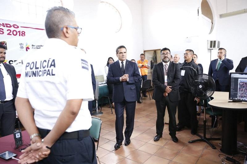 La tarea primordial de este CAI, es mantener en vigilancia la entidad las 24 horas en Morelia y todo el territorio estatal