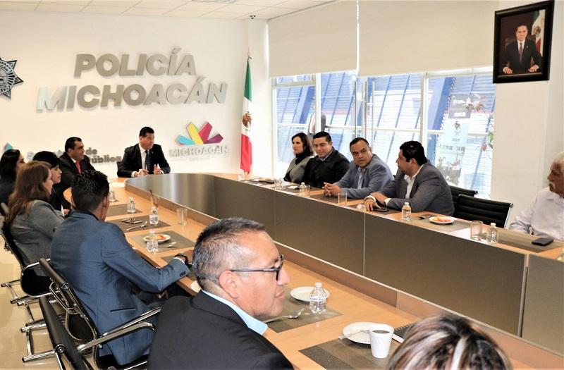 Corona Martínez destacó la importancia de tener plena colaboración con el propósito de garantizar la tranquilidad y seguridad que los michoacanos merecen