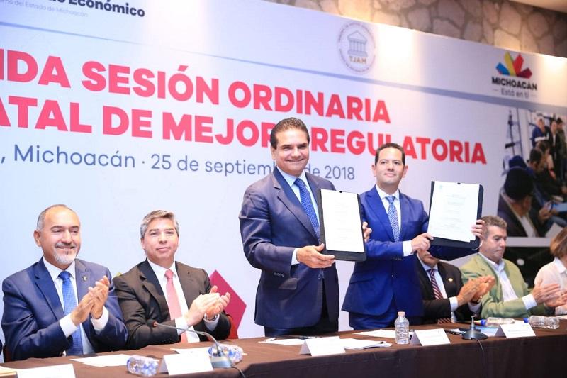 Reconoce Conamer a Michoacán por la aplicación de las buenas prácticas regulatorias en todo el ciclo de gobernanza