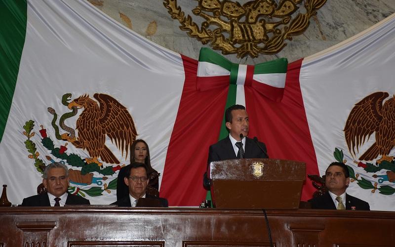El presidente del Poder Legislativo celebró que el informe de gobierno no sea más un momento de lucimiento personal