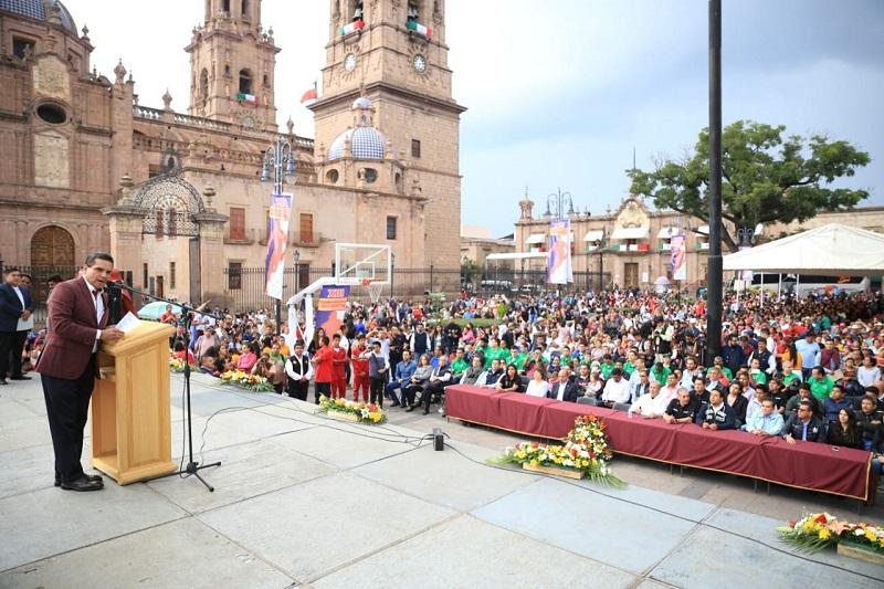 """""""Michoacán contará con cuatro grandes eventos deportivos en los próximos meses"""", anuncia el mandatario estatal"""