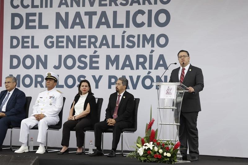 García Hernández, reiteró que el momento de México ha llegado, y con ello la recuperación de los valores, ideales y el trabajo que el Gral. Lázaro Cárdenas del Río, luchó por construir a partir de la unidad de los pueblos