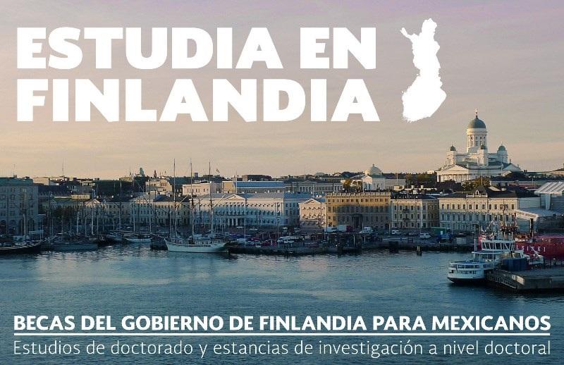 El programa de becas es otorgado por el Gobierno de Finlandia y comprende todas las áreas del conocimiento