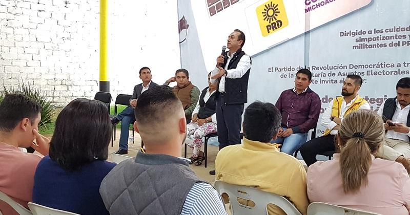 PRD Michoacán, con militantes preparados y unidos, que defiendan a los más desfavorecidos: Soto Sánchez