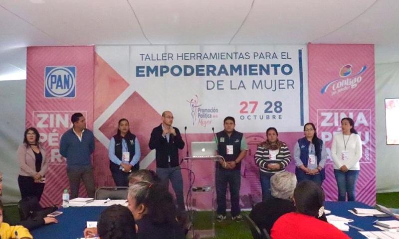 Alejandro Serrato Tapia, presidente del Comité Directivo Municipal de Zinapécuaro extendió su agradecimiento a las asistentes