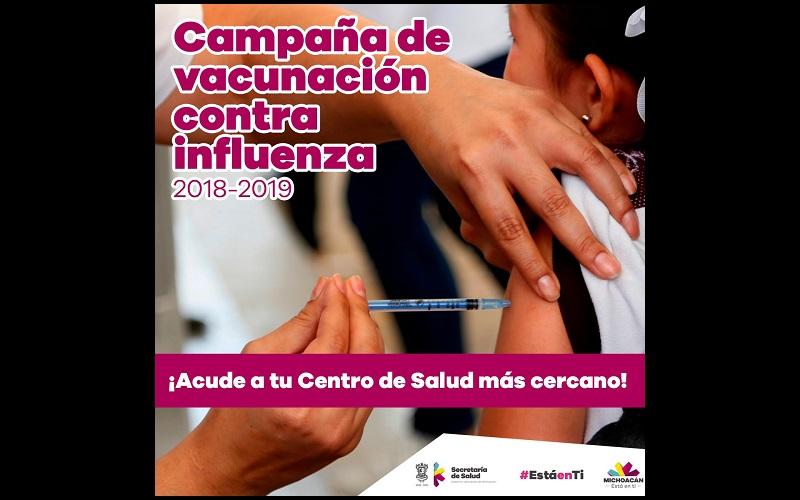 La SSM exhorta a los michoacanos que aún no se han vacunado, a que acudan a su centro de salud u hospital más cercano a aplicarse el biológico contra el virus