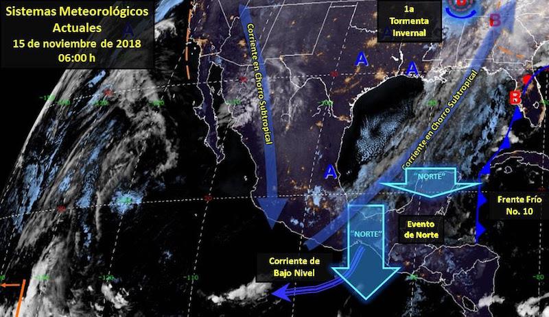 Con estas nuevas condiciones, la probabilidad de lluvias para el estado de Michoacán se disminuyen a aisladas y cielo parcialmente nublado con lluvias aisladas vespertinas en zonas costeras