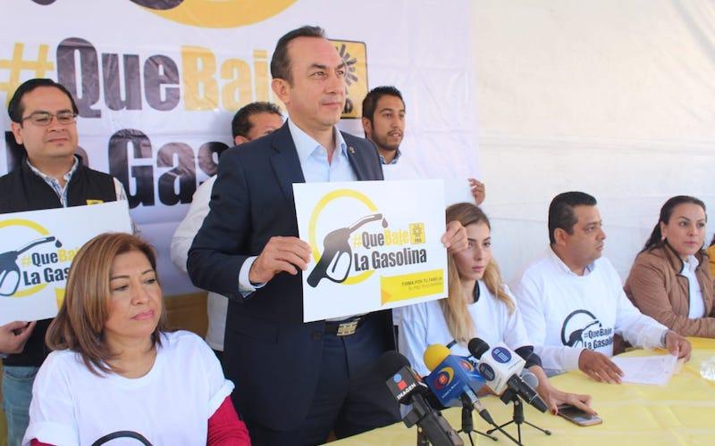 El CEE-PRD, emprende recorrido por todo el estado para recabar firmas contra los gasolinazos