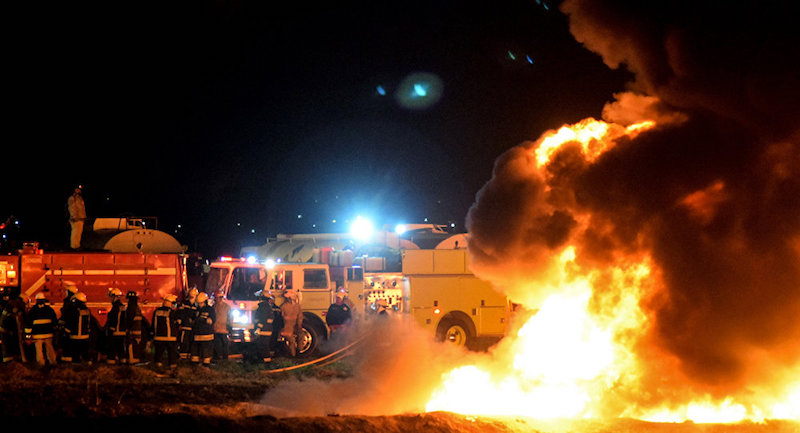 El estallido ocurrió en un momento en que el gobierno impulsa una estrategia nacional para acabar con el robo de combustible