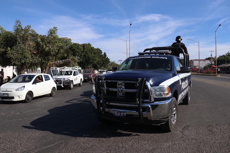 La SSP exhorta a la población a colaborar en los trabajos preventivos que la Policía Michoacán desempeña, a fin de brindar tranquilidad en esta zona del estado