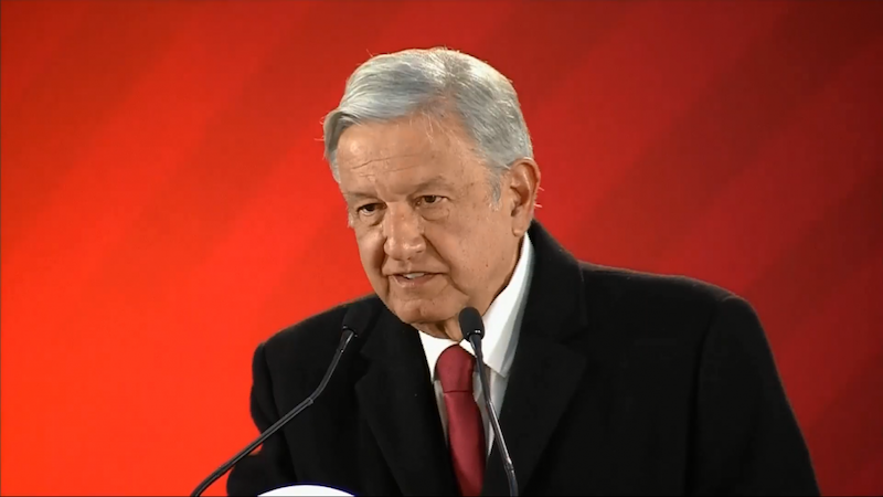 """El presidente aseguró que en la actualidad Pemex """"está mejor que en los últimos 30 años porque el principal problema de Pemex era la corrupción y ya se está limpiando a Pemex de la corrupción"""""""