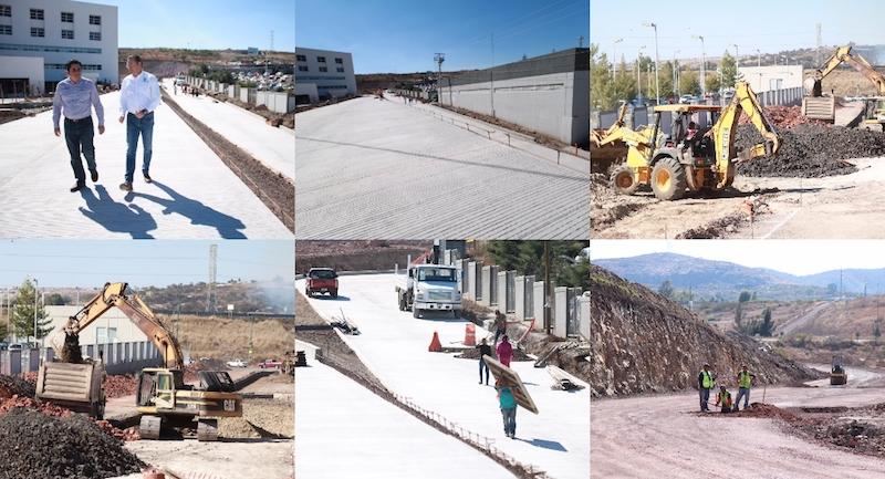 La obra, incluye también la construcción de drenaje pluvial y sanitario, muros de contención, cunetas, señalamiento horizontal y vertical, equipamiento, y la reubicación de las líneas de la Comisión Federal de Electricidad