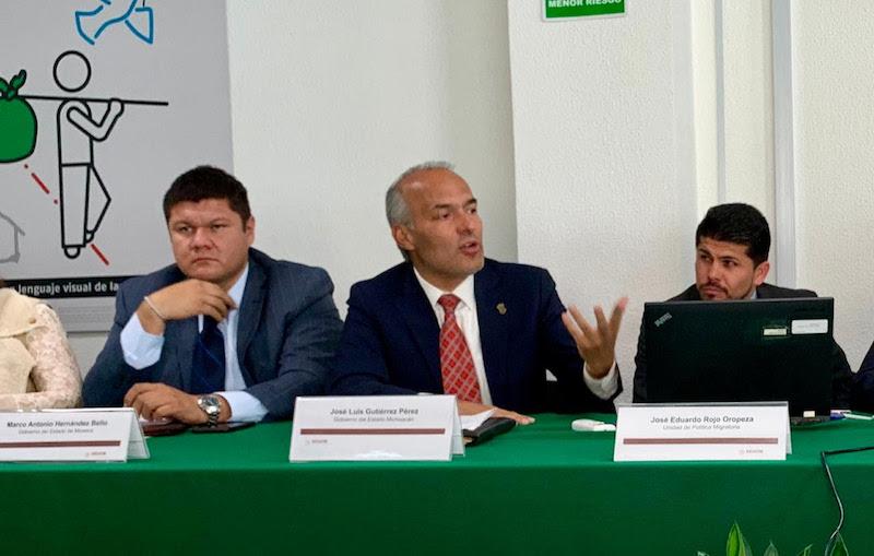 En la reunión, donde Michoacán estuvo representado José Luis Gutiérrez Pérez, titular de la Secretaría del Migrante, el gobierno federal delineó sus prioridades en materia de emigración
