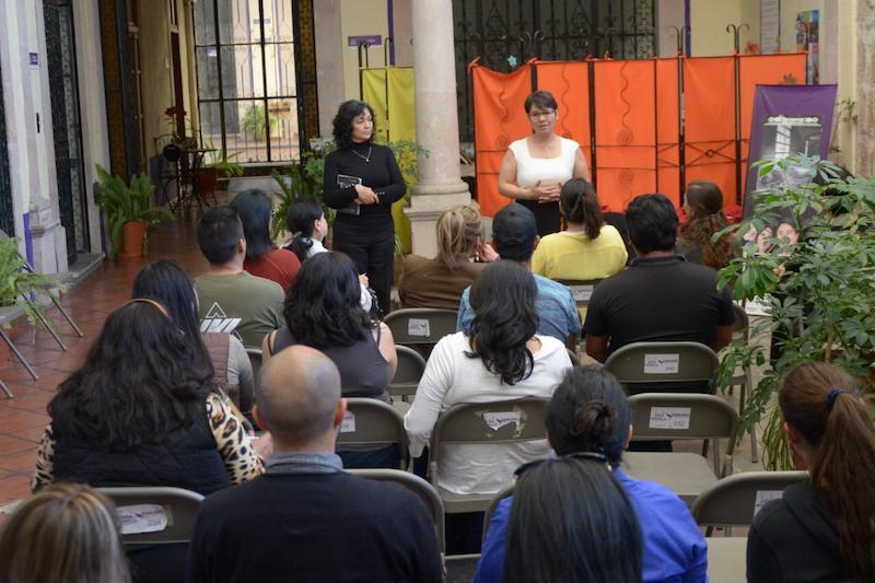 La titular del IMUMO, María Concepción Torres, así como la comisionada por la Seguridad, Julissa Suárez Bucio, encabezaron la reunión a la que acudieron personas de organizaciones civiles y sociedad en general