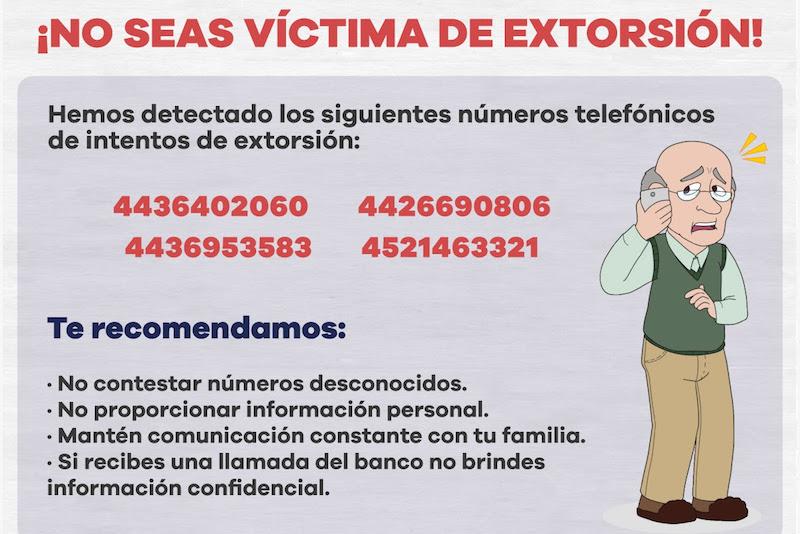 Con la finalidad de salvaguardar a la población, es importante que ante el intento de extorsión telefónica se realice una denuncia al número de emergencias 911, para detectar el origen de dicha llamada