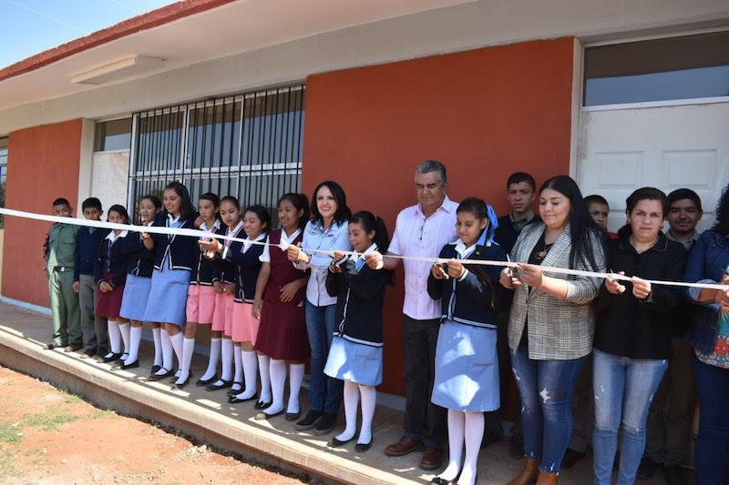Inaugura IIFEEM construcción de aulas en Telesecundaria no. 956