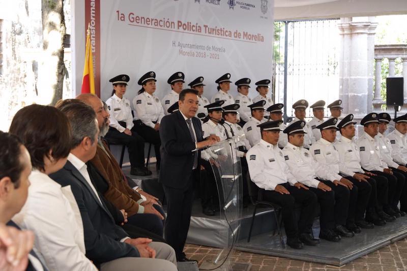 Morelia contará con dos módulos de la Policía Turística de Morelia, uno de ellos en Plaza de Armas