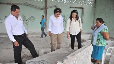 Funcionarios estatales visitaron la marmolera que se encuentra abandonada