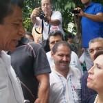 Antonio Guzmán acompañó a autoridades federales y estatales a Nocupétaro