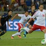 Javier Hernández fue elegido el jugador del partido en el duelo contra Japón