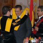 En la capital del estado, el jefe de la tuna española, Martín Guerrero, agradeció la hospitalidad de los morelianos y el interés de la ciudad por impulsar dicha representación cultural y artística