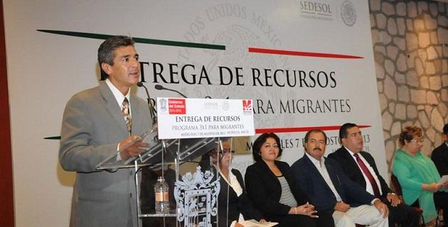 Participaron el delegado federal de la SEDESOL, Víctor Silva, así como el titular de SEMIGRANTE, Luis Carlos Chávez; y, la presidenta de la Comisión de Migración del Congreso del Estado, Silvia Estrada
