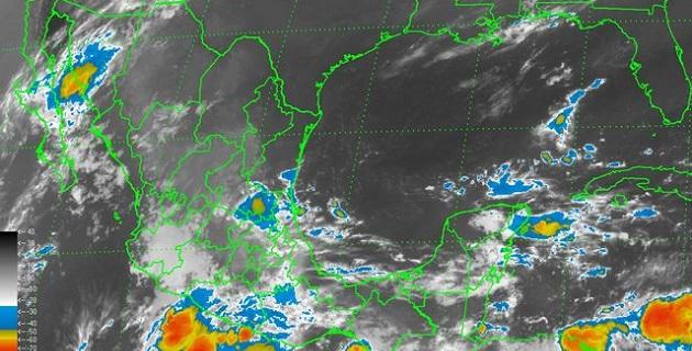 Un canal de baja presión en el sureste, asociado a la entrada de humedad proveniente del Golfo de México y mar Caribe provocará lluvias en gran parte del país