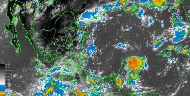 Lluvia de fuerte a muy fuerte se pronostica en occidente, centro, sur y sureste de México