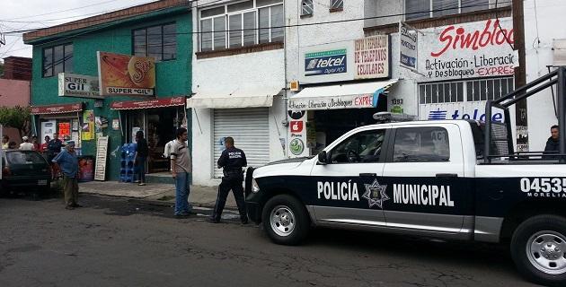 Los policías preventivos aseguraron al supuesto asaltante y agresor, a quien pusieron a disposición del Ministerio Público, que determinará su situación jurídica