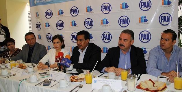 Chávez Zavala reiteró el respaldo de Acción Nacional a los productores michoacanos; fue acompañado por los diputados María Eugenia Méndez y Sergio Benítez