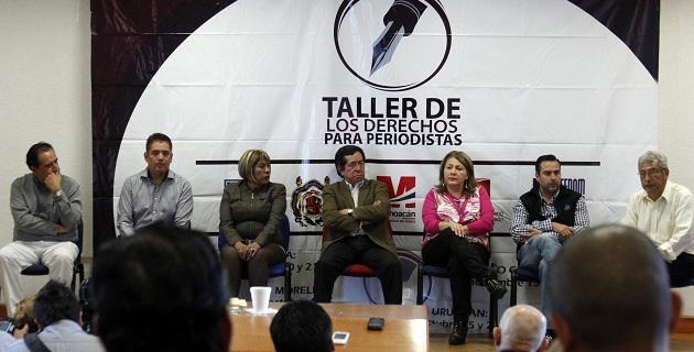 Diputados locales asistieron al Taller de los derechos de los periodistas en Uruapan