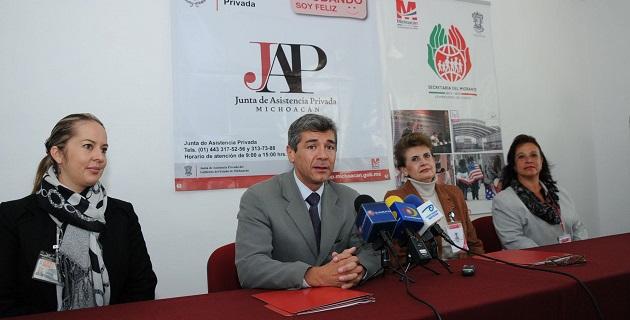 La Junta de Asistencia Privada y la Secretaría del Migrante signaron un convenio de colaboración
