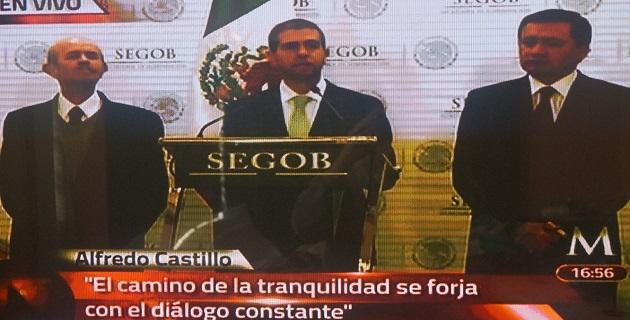 El gobernador Fausto Vallejo atestiguó la designación de Castillo Cervantes; autoridades federales le reconocieron su interés por privilegiar el interés superior de los michoacanos